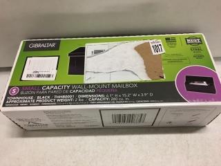 GIBRALTAR SMALL CAPACITY WALL-MOUNT MAILBOX