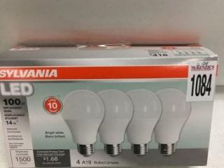 SYLVANIA 4 A19 LED BULBS