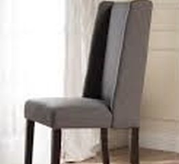 WINGBACK FABRIC DINING CHAIR (NOT ASSEMBLED)