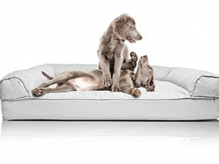 FURHAVEN JUMBO QUILTED SOFA PET BED