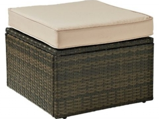 CROSLEY OUTDOOR WICKER OTTOMAN (NOT ASSEMBLED)
