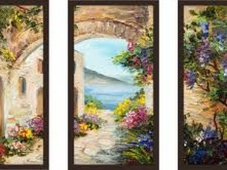 "3-PIECE ART PRINT SET 33.5""X17.5"""