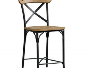 STANDARD X-BACK METAL STOOLS (2 IN TOTAL;