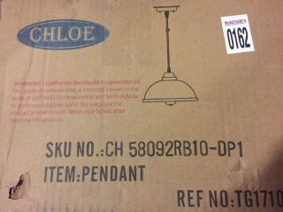 CHLOE PENDANT LIGHT IN RUBBED BRONZE