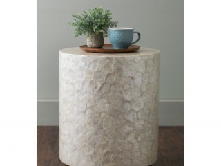 JEFFAN CAPIZ END TABLE