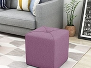 KENYON FABRIC SQUARE OTTOMAN