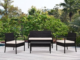 DG CASA 4-PIECE  PATIO SET *NOT ASSEMBLED*