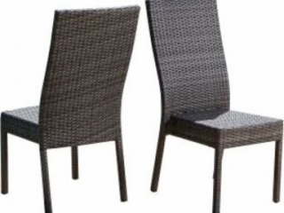 ABBYSON WICKER SIDE CHAIRS *2 IN TOTAL*