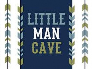 "LITTLE MAN CAVE ARROWS ART PAINT 18""H X 36""W"