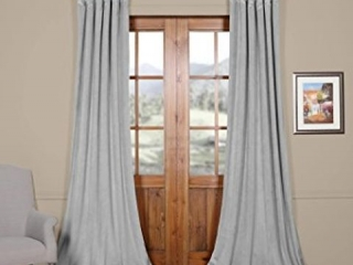 "EXCLUSIVE FABRICS PLUSH VELVET CURTAIN *50""X96""*"