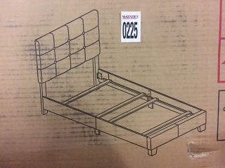 FLORENCE GREY-COLORED BED *TWIN; NOT ASSEMBLED*