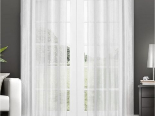 "EXCLUSIVE HOME SHEER GROMMET CURTAIN *50""X96""*"