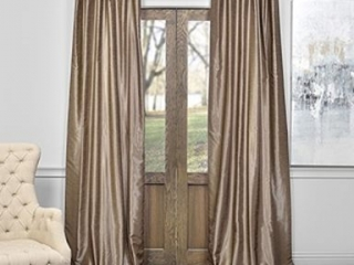 "EXCLUSIVE FABRICS VINTAGE SILK CURTAIN *50""X108""*"