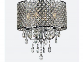 4-LIGHT ROUND CRYSTAL CHANDELIER 45X 45 C 40 1/2CM