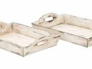 HARGRAVE 2PC ACCENT TRAY SET