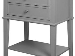 ACCENT TABLE WITH 2 DRAWERS(NOT ASSEMBLED)