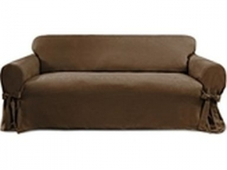 COVERWORKS SOFA SLIPCOVER CHOCOLATE