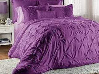 8 PIECE COMFORTER SET LUCILLA PURPLE QUEEN