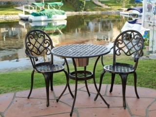 3PC COPPER BISTRO SET