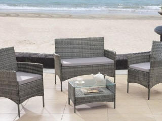 4PC RATTAN WICKER SET(NOT ASSEMBLED)