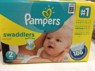 PAMPERS SWADDLERS SZ 2