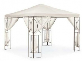 POLENZA CREAM GAZEBO(NOT ASSEMBLED)