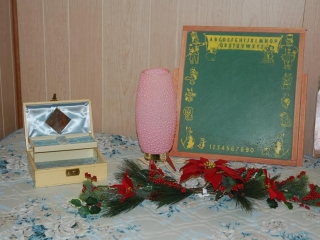 OFF SITE -  Box, Lamp, Chalk Board, Wood Burning, Bed & Frame UNRESERVED