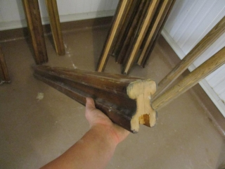 (5) Approx. 4' Oak Hand Railings  UNRESERVED