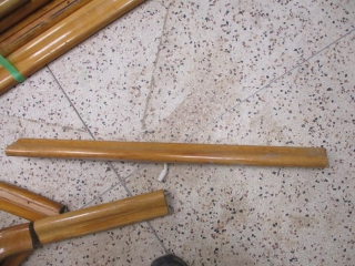 (14) Pieces from 11 1/2 to 4' Hand Rails with Curved Parts  UNRESERVED