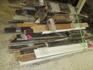Pile of Window, Trim and Base Boards (Mainly Oak) UNRESERVED