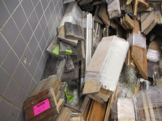Pile of Short Base Board, Window Door Trims, Longer Baseboard, Chair Trims UNRESERVED