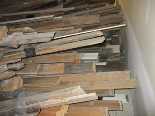 Large Pile of Window Door Base Boards, Chair Trim  UNRESERVED