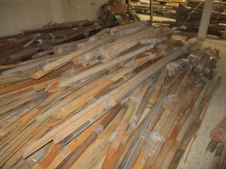 Large Pile of Maple Flooring 2 1/4'' Wide - Various Lengths From the College Building UNRESERVED