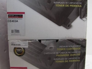Lot of 2 CE403A toner for HP printers