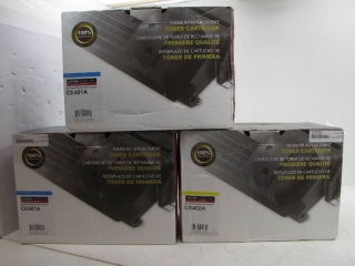 Lot of 3 premium toner cartridge for HP printers
