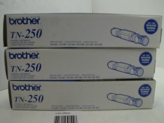 LOT OF 2 BROTHER TN-250 TONERS FOR BROTHER PRINTERS