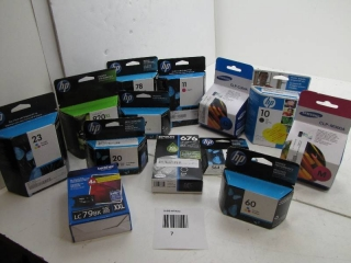 LOT OF SORTED PRINTER INKS AND TONERS