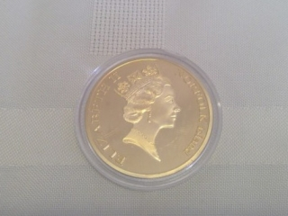 Norfolk Island Religious Commemorative Gold