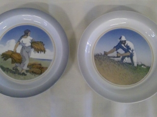 2 Royal Copenhagen Plates From Denmark