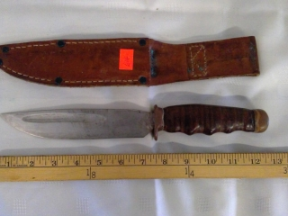 12 And A Half Inch Knife In Leather Case
