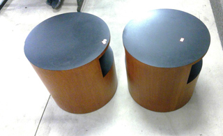 "Mid Century Round Teak End Table  20"" X 20"""