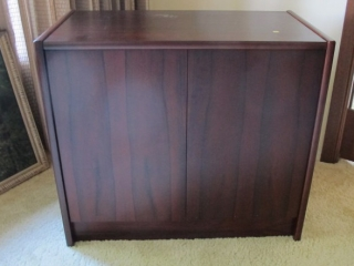 Rosewood 2 Door Server Lined Drawer 33x17x29 Tall