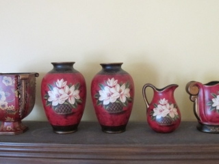 5 Floral  Decorator Vases