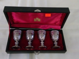 Set Of 4 Embossed Chalice In Case