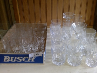 Grouping Of Crystal Tumblers Various Sizes