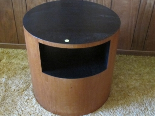 "Pair Mid Century Round Teak End Tables  20"" X 20"""