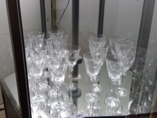 Lot Of Crystal Long Stem Wine Glasses