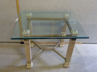 Square Glass Occasional Table