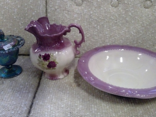 Wash Basin And Pitcher, Candy Dish