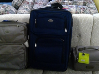 2 Suitcases Travel Bag, Rolling Storage